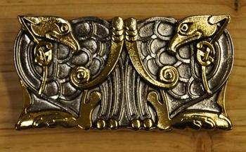"""Belt buckle  """" Celtic twin Birds """""""