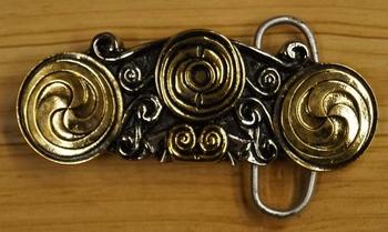 """Belt buckle  """" Double triscele """""""
