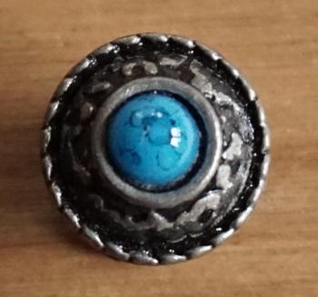 """Hoge concho """" Blauwe steen """""""