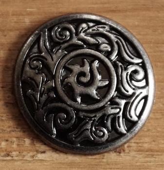 "Concho  "" Keltisch sierwerk ""  nikkelkleurig"