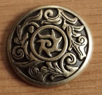 "Concho  "" Keltisch sierwerk ""  koperkleurig"