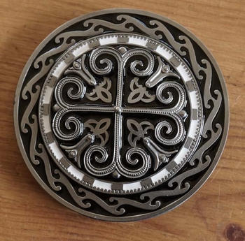 """Buckle / gesp  """" Cross with celtic signs """""""