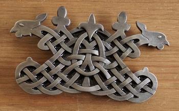 "Buckle / gesp  "" Knot with celtic birds """