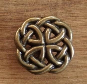 """Concho  """" Keltische knoop  """"  goudkleurig"""