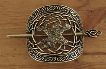 """Haarspeld  """" Levensboom """" brons kleurig"""