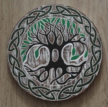 """Decoratie  """" Levensboom """"  gekleurd"""