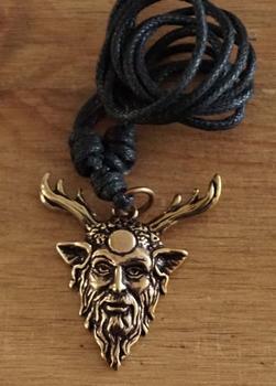 """Ketting  """" Bronzen Cernunnos """"  keltische god"""
