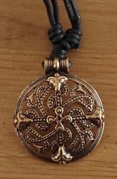 "Ketting  "" Bronzen Celtic beast """