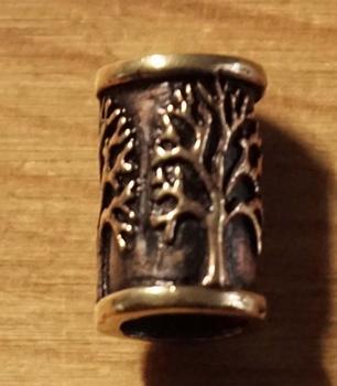 """Bronzen baardkraal  """" Levensboom """""""