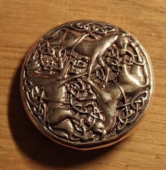 """Broche  """" 3 Keltische paarden """""""
