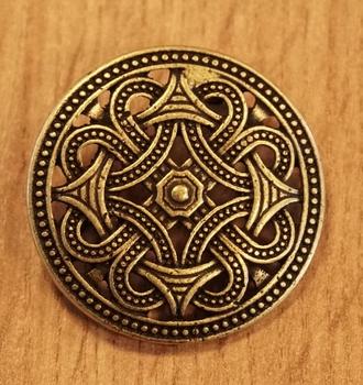 """Broche """" Keltische knoop """"  koperkleurig   UITVERKOCHT"""