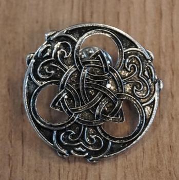 """Broche """" Keltische knoop """"  nikkelkleurig"""