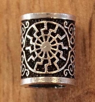 """Baardkraal  """" Keltische web """"   zilverkleurig  per stuk"""