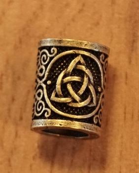 """Baardkraal  """" Keltische knoop """"   koper kleurig  per stuk"""
