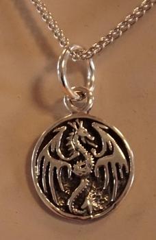 """Hanger  """" Keltische draak op schild """""""