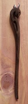 "Haarstokje  "" Dolfijn "" bruin"