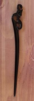 """Haarstokje van hoorn  """" Siermotief """" zwart"""