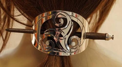 """Haarspeld met haarstokje  """" Triskelion"""""""