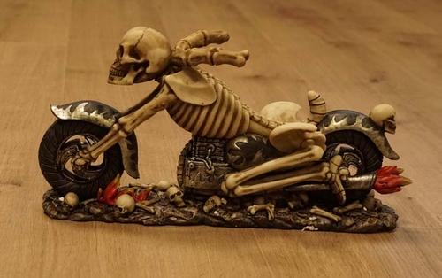 """Flessenhouder """" Skelet op motor """""""