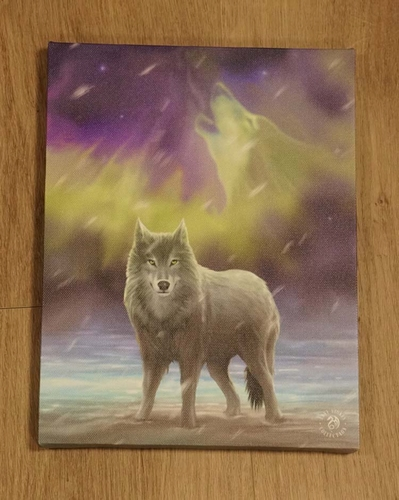 "Anne Stokes wanddecoratie  "" Wolf """
