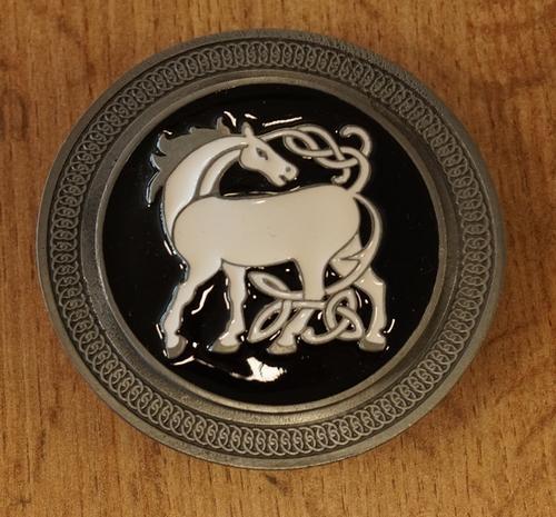 "Belt Buckle  "" Keltische paard ""  zwart"