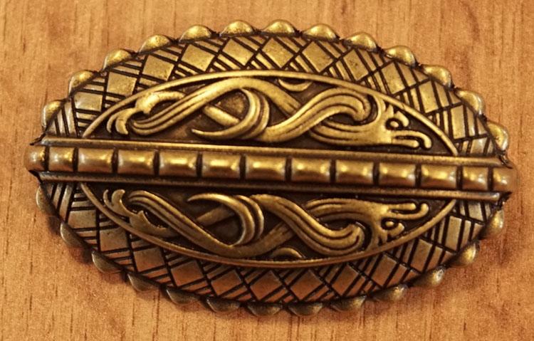 """Broche  """" Keltische sierwerk """"  koperkleurig"""
