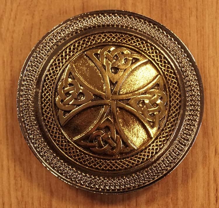 """Buckle  """" Keltische kruis met 4 knopen """""""