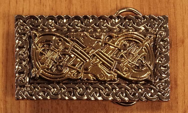 """Buckle """" 2 Keltische honden """"  zilver- / goudkleurig"""