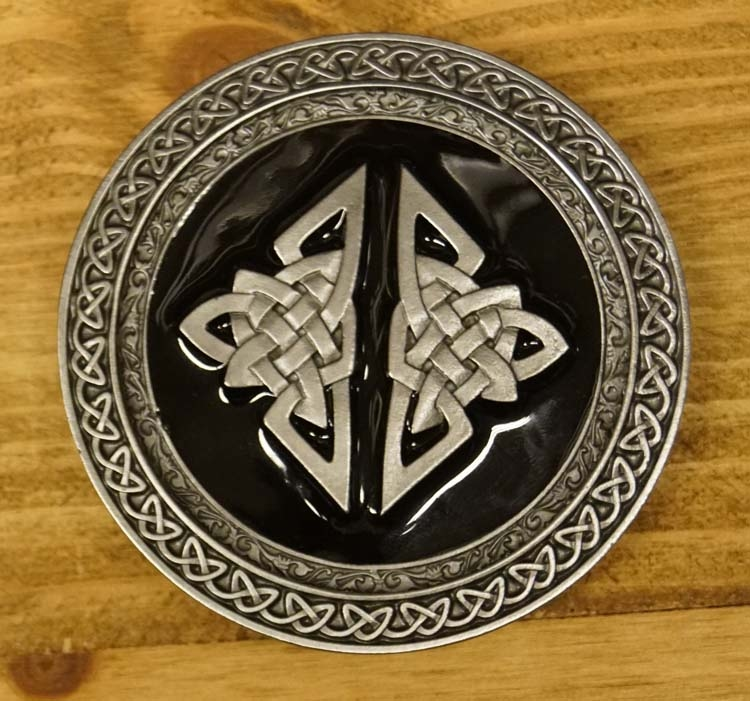 """Buckle / gesp  """" Celtic two knot """""""