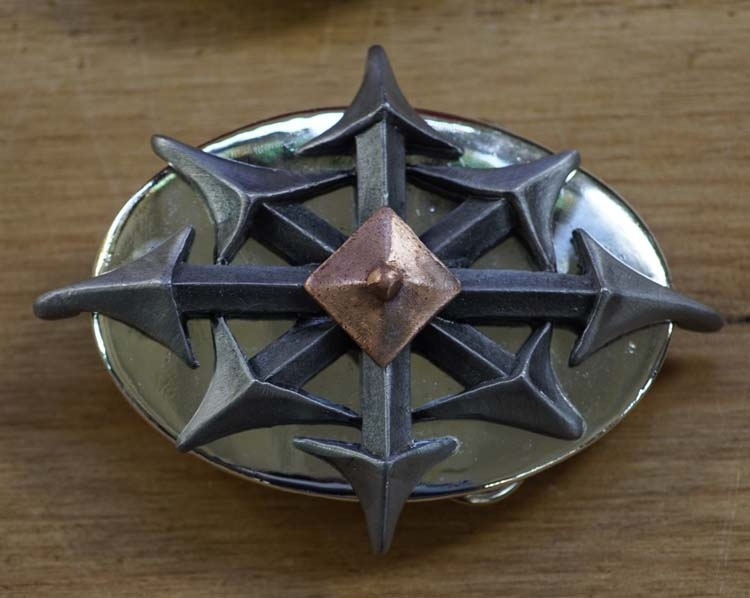 """Buckle / gesp  """" Keltische teken van chaos """"   UITVERKOCHT"""