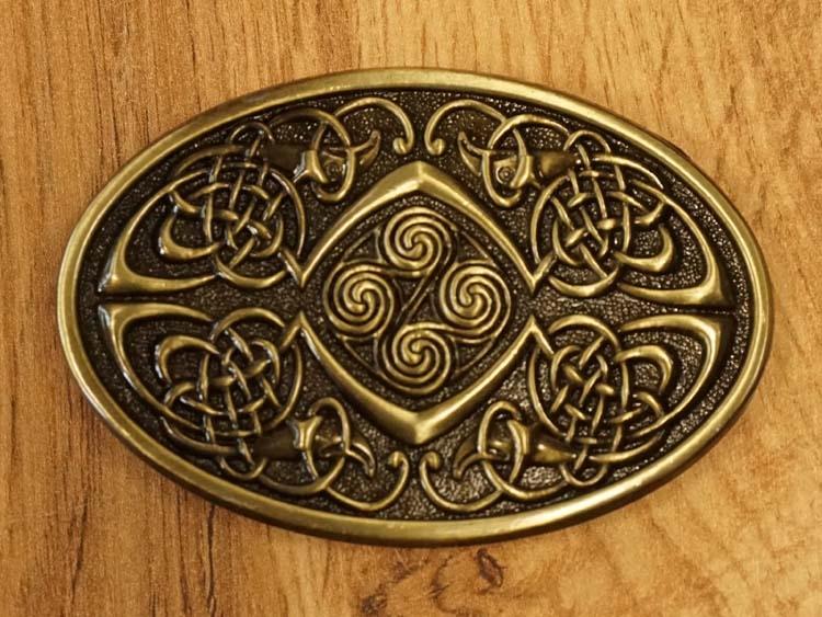 """Buckle """" Keltische knoop met 4 vogels """" koperkleurig"""