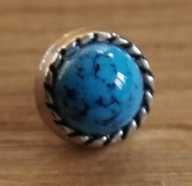 """Concho  """" Sierwerk met blauwe steen """""""