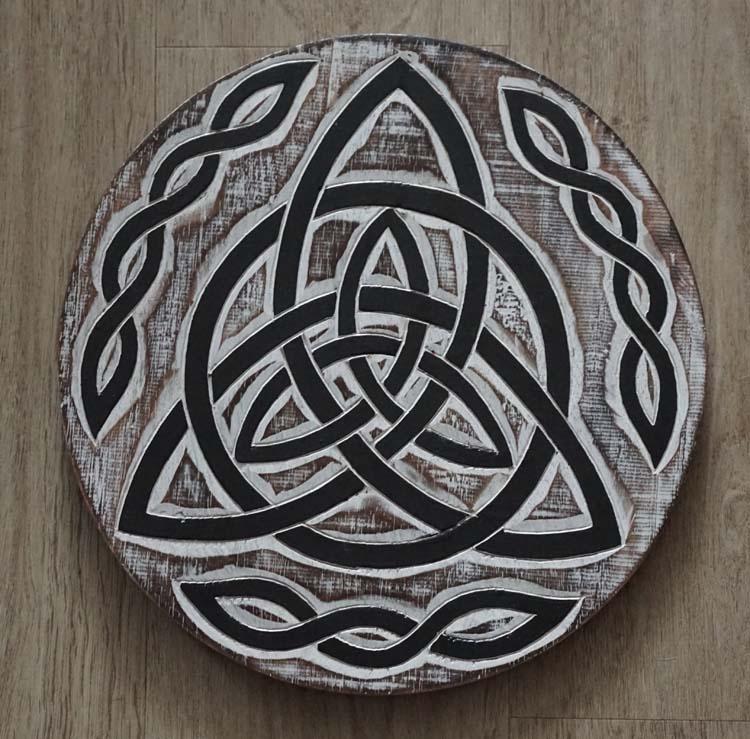 "Decoratie  "" Celtic knoop triangel """
