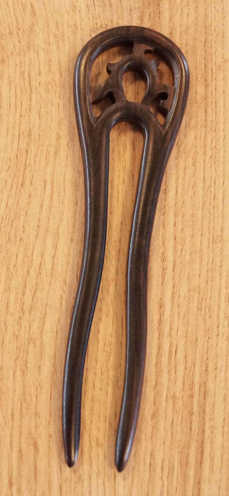 """Dubbele haarstokje voor knot  """" Sierwerk """"  UITVERKOCHT"""