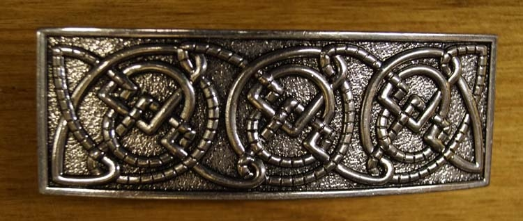 """Haarclip  """" 3 celtic knots """"  Zilverkleurig"""