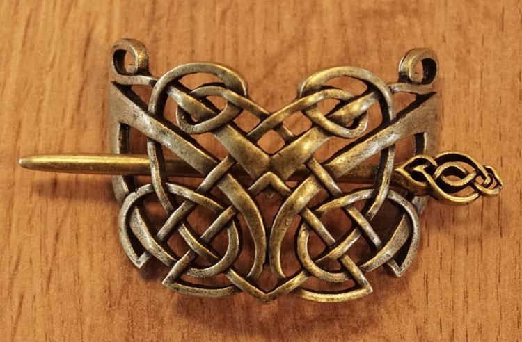 """Haarspeld  """" Dubbele keltische knoop """""""