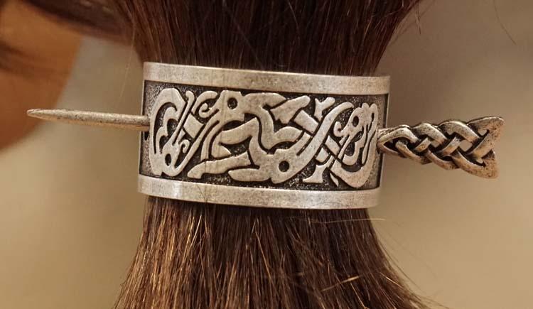 """Haarspeld met haarstokje  """" 2 Keltische slangen """""""