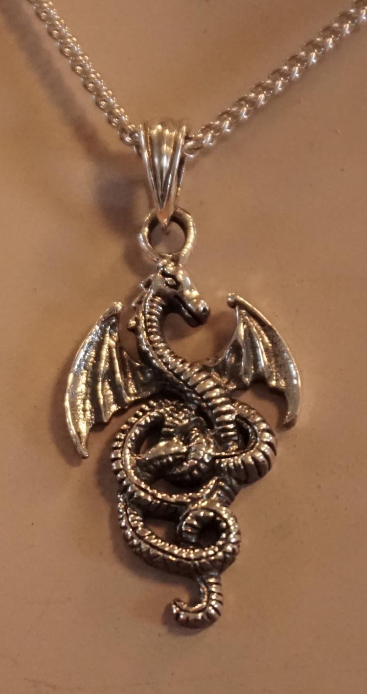 """Hanger  """" Keltische draak met vleugels gespreid """""""