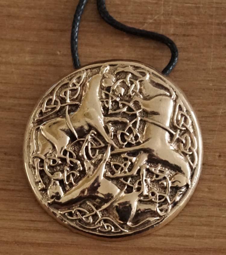 """Ketting  """" 3 keltische paarden """""""