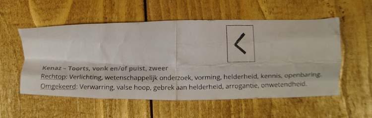 """Leren armband  """" Runenteken Kenaz - toorts """"   Zwart"""