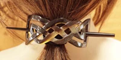 Hoorn haarspelden met stokjes
